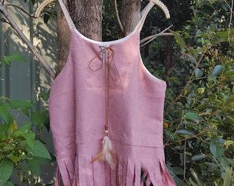 Bohemian Fringe cotton linen top