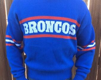 Denver Broncos Vintage Cliff Engle sweater