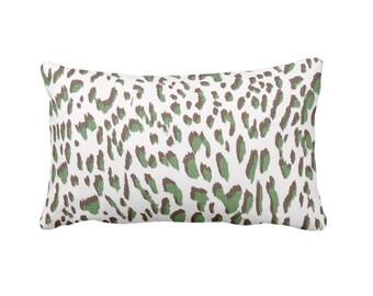 Green Throw Pillow Cover Decorative Throw Pillow Cover Decorative Pillows for Couch Pillows Animal Print Pillow Leopard Print Pillow Cushion