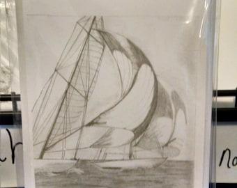 Sailboat notecard set (5)