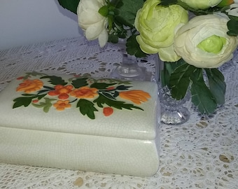 Beautiful floral trinket box