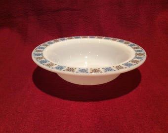 "Pyrex JAJ Chelsea Dessert Pudding or Soup Bowls 6 1/8"" diameter circa 1960"