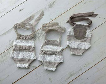 Tiny baby romper - photo props