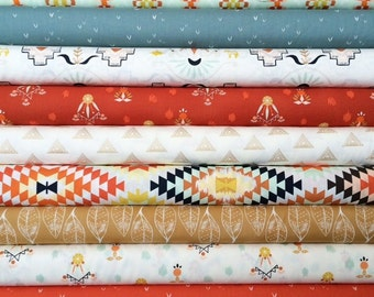 Wanderer Fat Quarter Bundle of 9 by April Rhodes for Art Gallery