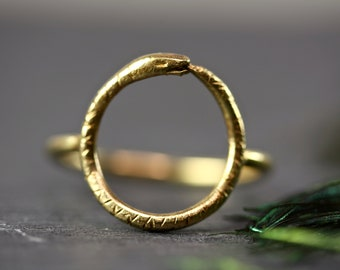 OUROBOROS RING ouroboros jewelry snake ring serpent ring snake jewelry gold snake ring, serpant minimal ring boho ring gold ring statement