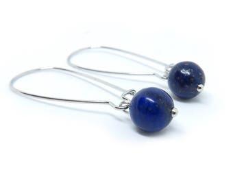 Lapis Lazuli Kidney Wire Earrings