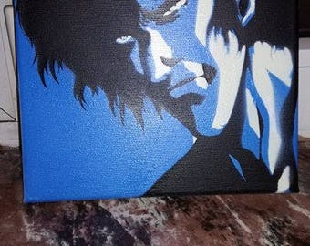 Jubei from Ninja Scroll. Stencil on canvas