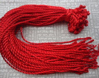 30pcs 3mm18-20 inch Red twist silk necklace cords with Loop and Knot--high quality--NC25