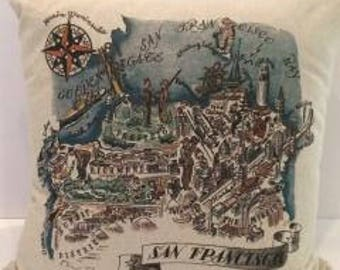 San Francisco Map Pillow