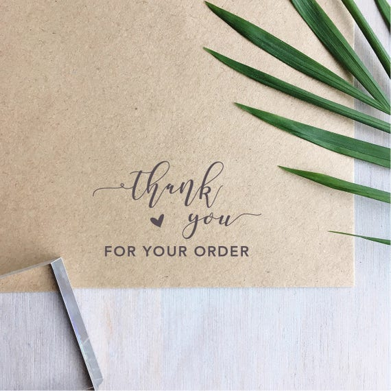 Thank You For Your Order >> Thank You For Your Order Stamp Thank You Stamp Business