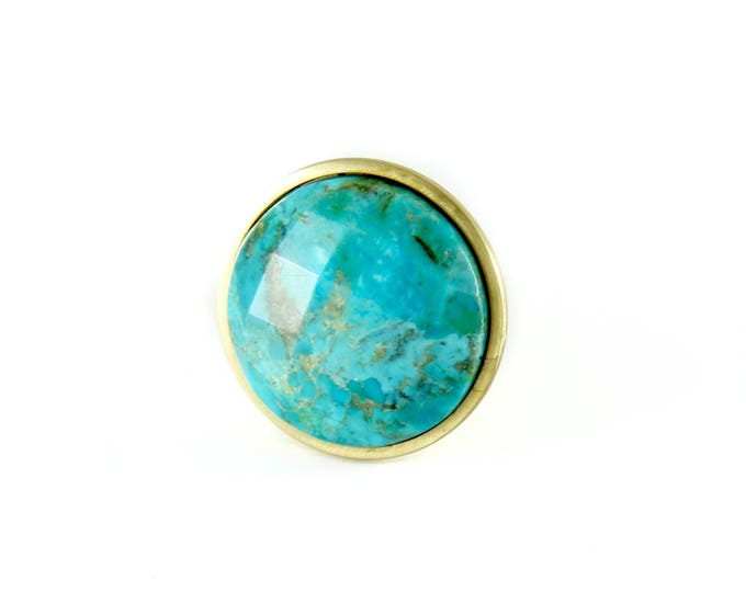 Faceted Turquoise Knob