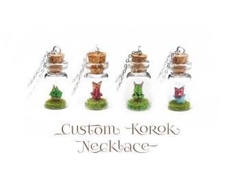 Legend of Zelda CUSTOM Korok Necklace, Breath of the Wild, Gift For Her, Kawaii Gamer Girl Geek Gift - CUSTOM MADE