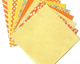 Citrus Yellow - 6x6 Recollections Home Basics Paper Pack - LAST SET