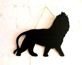 Lion.. Blackboard.. Chalkboard..Notice board.. Zooilogical.. Zoo.. Big Cat..Handmade..Unique