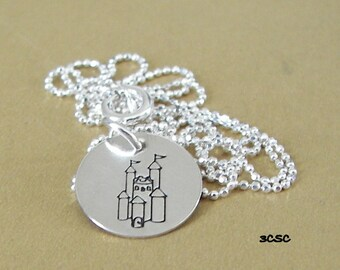 Sterling Silver Castle Necklace
