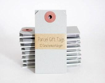 10 Gift Tags Manila - Gray