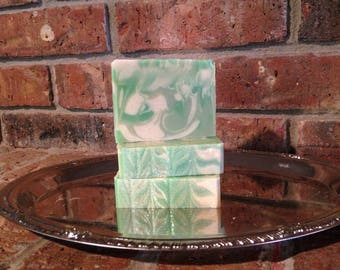 Coconut Lime Verbena Handcrafted Artisan Soap summer scent