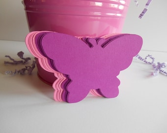 24 Butterflies - (2.6in x 3.9in) - Cardstock Die Cuts for Scrapbooking, Cupcake Toppers, Tags
