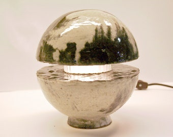 Concrete Sphere Lamp (marbled)