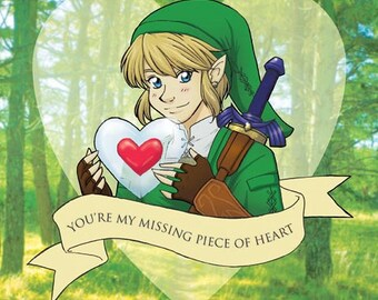 Link Valentine- Legend of Zelda fan art original illustration print