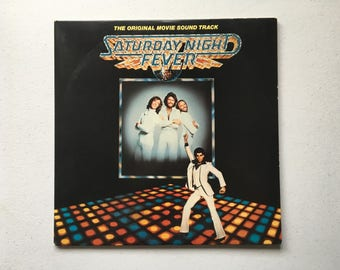 Saturday Night Fever Soundtrack Vinyl LP NM First Press 1977