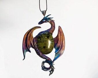 Sunshine rainbow   dragon pendant