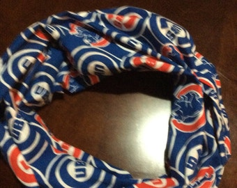 Chicago Cubs Splash Print Infinity Scarf