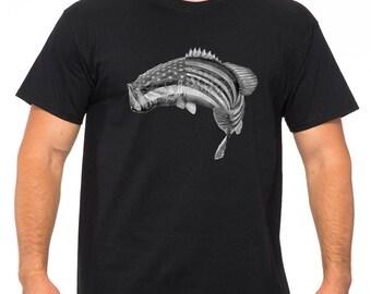 Fishing T Shirt. Fishing Mens Tee shirt, Funny Father's Day Shirt. Father's Day Gift Idea. Christmas Gift. USA flag tshirt. USA Fishing tee