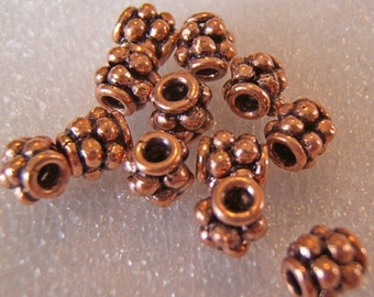 20 - Antiqued Copper Spacer Beads