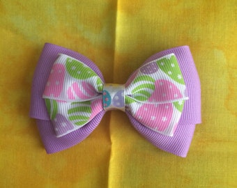 Easter hair bow, easter hair accessories, Easter eggs, Easter egg hair bow, hair bow, hair accessories
