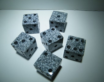 Dice, Stone Dice Table Decoration