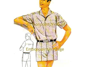 Plus Size (or any size) Vintage 1969 Shorts Pattern - PDF - Pattern No 125 Curtis Shorts 1960s 60s