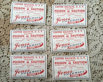 With Only A Two Digit Number The Pharmacy Was Easy To Get Antique Poison Labels