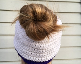 Messy Bun Hat/ Ponytail Hat/ Runners Hat