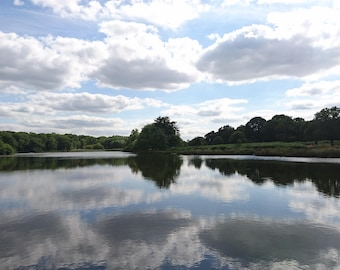 looking Across Pen Pond In Richmond Park Fine Art Photographic Blank Greetings Card