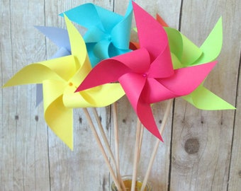 Table Centerpiece Spinning Pinwheels Birthday Favors Party Decoration Spring Party Decorations Home Decor