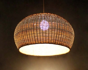 Free Shipping Circular Arc Natural Bamboo Pendant Lights Bamboo Lampshade  Bamboo Lighting Fixtures
