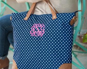 Monogrammed Bag, Monogrammed Purse, Monogrammed Tote, Monogrammed Tote Bag, Monogram Handbag, Charlie Dot  Shoulder Bag, Monogram Purse, Bag