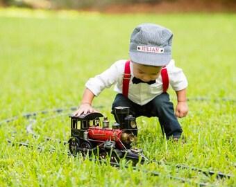 Toddler Boy Gift, Toddler Christmas Gift, Boy Gift Idea, Toddler Boy, Toddler Boy Hat, Toddler Train Hat, Personalized Toddler Gift, Boy