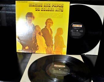 Rock LP - Mamas and Papas, 20 Golden Hits, 2LPs Gatefold Cover, Dunhill, California Dreamin', Monday, Monday,...
