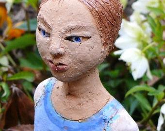 listen to the whispers - ceramic girl