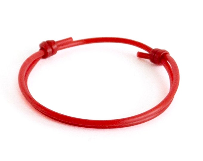 Tibetan Bracelet Men, Tibetan Bracelet Prayer, Tibetan Bracelet Rope With Knot For Men, Women, Red Braided Lucky Rope Of Silicone
