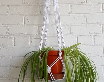 DIY Macrame Kit for Chunky Plant Pot Holder, Cotton Cord Macrame Plant Hangers, Make a Macrame Holder with Easy Instructions