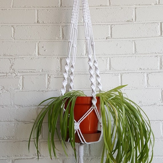Plant Pot Holders Diy: DIY Macrame Kit For Chunky Plant Pot Holder Cotton Cord