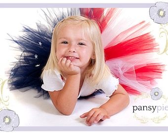 American Flag Tutu 4th Of July Tutu Dress July 4th Patriotic Toddler Dress Red White And Blue Tutu 2T, 3, 4 Years