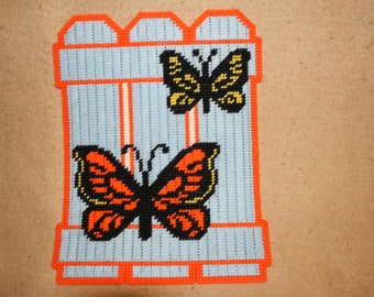 Butterfly fence wall hanging