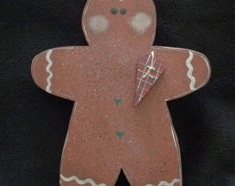 Gingerbread Man - Shelf Sitter- Bowl Filler -  Hand Painted - Decoration (1)