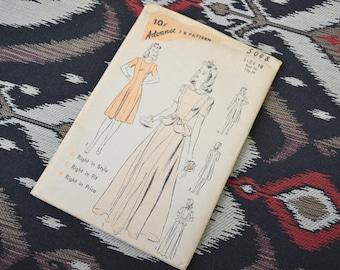 1940s Advance Dress Pattern, #5048, Size 18 (36 Bust, 39 Hip, 30 Waist)