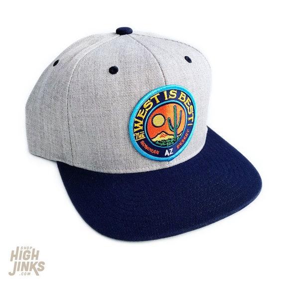 The West is Best : Flat Brim Snapback Cap
