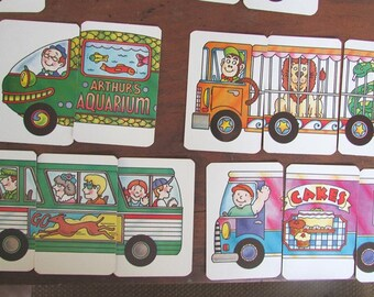 Transportation Card Game Creative Child Game INCOMPLETE DECK Paper Ephemera Scrapbook Supply
